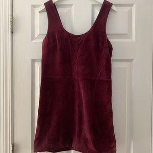 BB Dakota Purple Leather Tank Dress